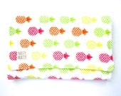 Modern Burp Cloth - Kawaii Style Burp Cloth -  Pineapple Burp Cloth - Baby Girl Gift - Modern Pineapple Print - Neon Colors - Burp Cloth Set