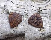 Custom Order - Handmade Hawaiian Koa Laser Engraved Premium Wood Guitar Pick-Pendant