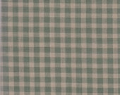 """Green & Tan Check Fabric ~ 10"""" x 44"""" Plaid Remnant ~ Material 4 Scrap Quilt Piecing - Fun Sewing Projects  Inventory # PL 14"""