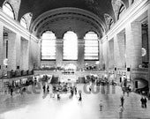 Black & White New York Photography, Large Wall Art, Grand Central Station, NYC Art, Modern, Industrial, Office Decor