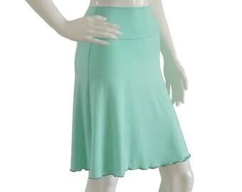 Skirt,  Mint Skirt, A line High Waist skirt for spring summer, Knee length skirt, Womens skirt, Custom skirt, XL, XXL, plus size skirt