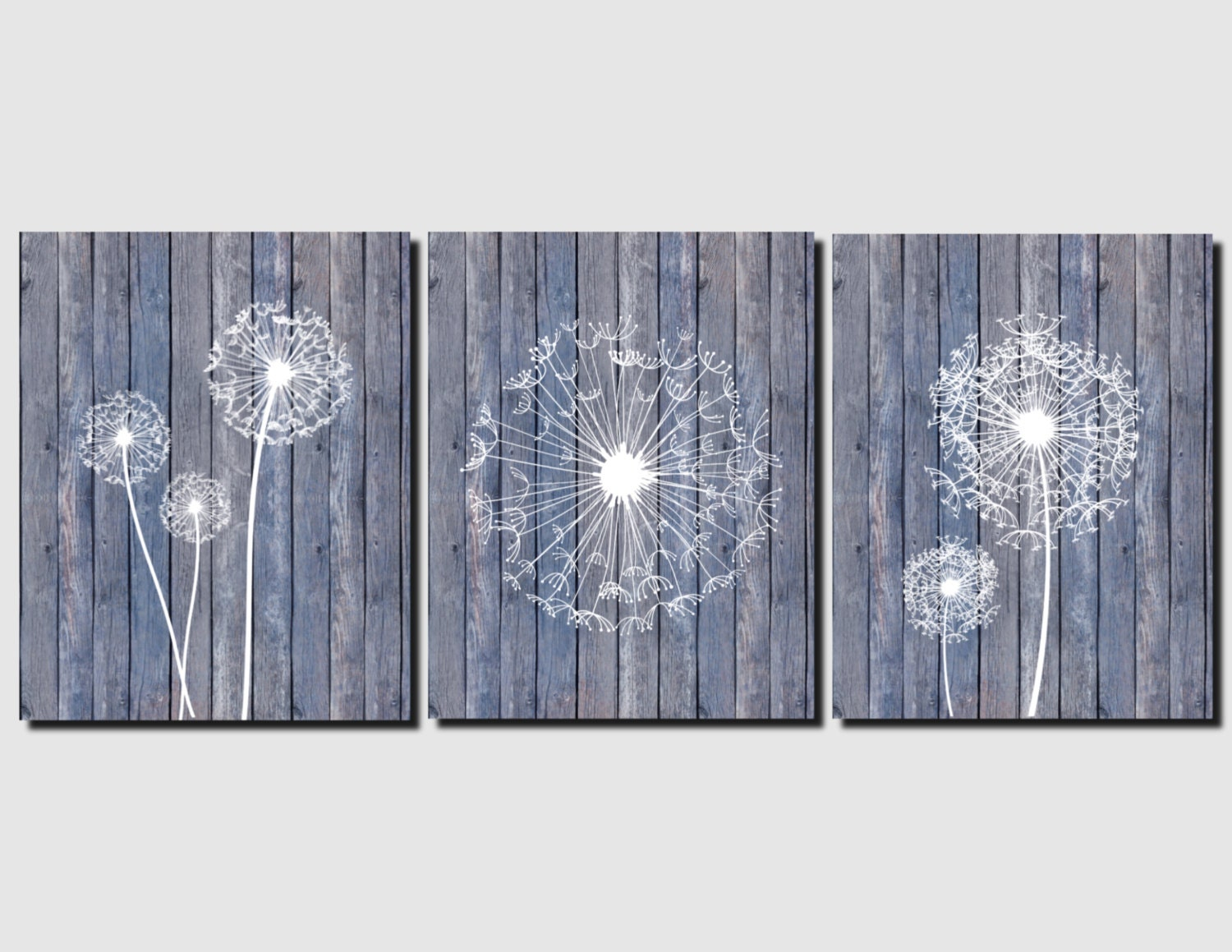 Dandelion Wall Art Canvas Or Prints Beach Home Decor Blue