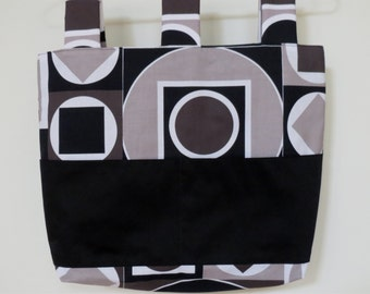 Walker Wheechair Bag Tote Geometric Print
