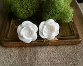 Flower Plugs Gauges White Roses