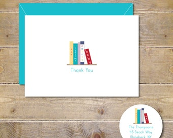 Bring a Book, Bring a Book Thank You Cards, Thank You Cards, Baby Book Shower, Baby Thank You Cards, Baby, Books