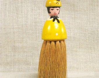 Antique Table Crumb Brush, Female Portrait, Figure, Figurative Brushes, Novelty, Woman, Table Top, Dining Room, Cleaning, Sweeping