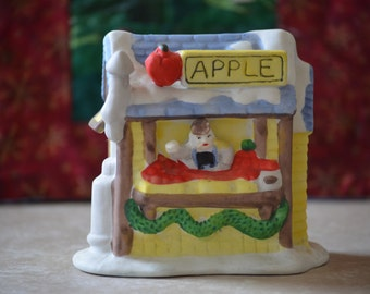 Miniature Building/Vintage Noma Dickensville Apple Stand Building/ Train Building/Christmas Decor/Christmas Village Building/1990