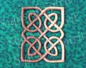 Miniature Matrimonial Knot Panel - Celtic Wedding Band - Love Knot Wood Carving