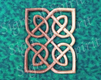Miniature Matrimonial Knot Panel - Celtic Wedding Band - Love Knot Wood Carving