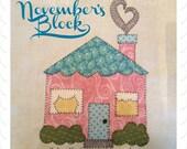 My Favorite Things Quilt Doodle Designs November's Block 2015