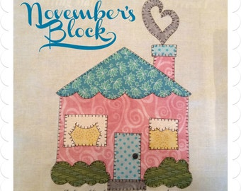 My Favorite Things Quilt Doodle Designs November's Block 2015