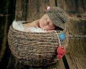 Ready to Ship Crochet Baby Boy Fisherman Set, Handmade Newborn Photo Photography Prop Baby Shower Gift Beanie Cap