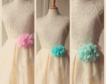 Romantic  Bridal Belt Flower Sash for Wedding