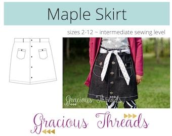 Maple Skirt PDF Pattern 2T-12