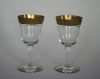 vintage tiffin rambler rose dessert drink glass wine glass set of two