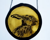 Traditional stained Glass - Spring Hare great gift for Mothering Sunday!