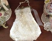 Beaded bridal purse