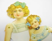 Antique Dennison Paper Dolls Articulated Victorian Die Cut Scrap Paper Ephemera Lot