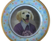 """Max, 4th Grade Portrait Plate - Altered Vintage Plate 6.4"""""""