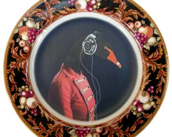 The Band Geek - Altered Antique Plate 7.8""