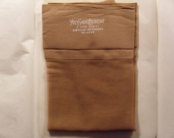 Vintage 1960's  Yves Saint Laurent Seamless Stockings  Deadstock