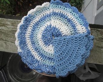 Blue Dishcloths by SuzannesStitches, Dishcloths, Washcloths, Blue Washcloths, Cotton Washcloths, Cotton Dishcloths, Crochet Dishcloths