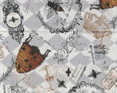 Queen Bee Fat Quarter, 1/2 yd or 1 yd Bees Cotton Fabric white Background Quilting sewing crafts writing on a white background maine