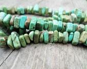 Turquoise Magnesite Chip Beads 7x3mm Full Strand