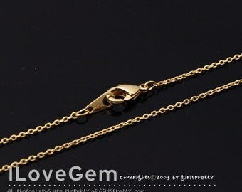 NP-1764 Necklace Chain, Gold plated, 230 Diamond Cut chain, 30 inch, 2pcs / Thin chain, Dainty Chain, Delicate Chain