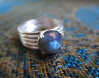 Labradorite Sterling Silver Ring SIZE 6.5