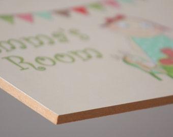 Nursery door sign, Baby girl sign, Baby door sign, Personalized baby girl gift, Custom name sign, Door sign, Girl sign