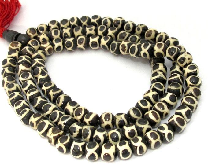 108 beads - Tibetan 108 bone mala beads supply with Guru bead 10 mm size - ML059
