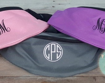 Monogrammed Fanny Pack Embroidered Hip Purse
