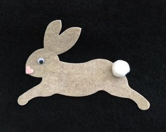 Cotton Tail Bunny Rabbit Kit-DIY Easter Decorations-Large Felt Embellishments-Felt Appliques-Decorations-Spring Crafts-Easter Craft Kits