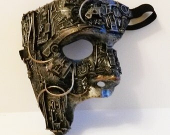 steampunk / techno phantom mascarade mask large.