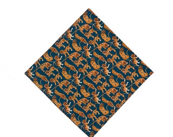Pomp & Ceremony Pocket Square handkerchief Liberty of London art print Heads and Tails