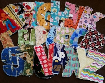 Quilted Alphabet Letters