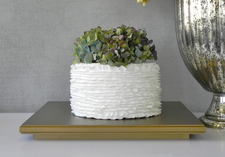 Gold Cake Stand 14 Square Wedding Cake Cupcake Vintage