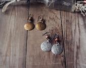 Fire - Elemental Symbol Earrings, brass or silver