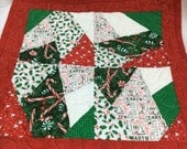 Christmas Scrap Quilted Table Runner Quilted Table Topper