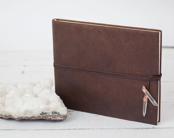Boho Leather Album - Crystal Wrap Book