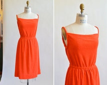 Vintage 1970s TERRYcloth dress