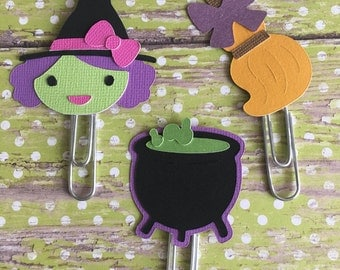 Witch Halloween Planner paperclip. Pick one