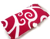 Pink swirls checkbook cover or coupon storage wallet