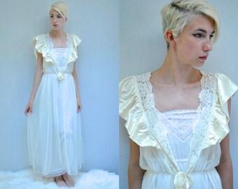 Sheer Robe  //  Peignoir Robe  //  Long Negligee Robe  //  THE ANNA SOPHIA