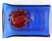 HIV Virus Fused Glass Dish