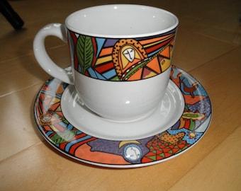 Vintage Vitromaster Cup and Saucer,  METROPOLITAN, 1991
