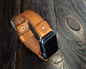 Vintage  Apple Watch Band Strap 38mm / 42mm Handmade leather strap/band for Apple Watch 38mm