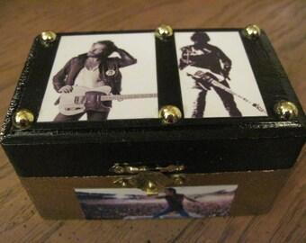 Bruce Springsteen Hand Crafted Decoupaged Wood Keepsake Trinket Box