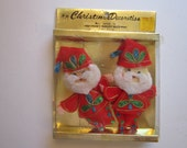 vintage Christmas decorations - SANTA Claus - made in Japan